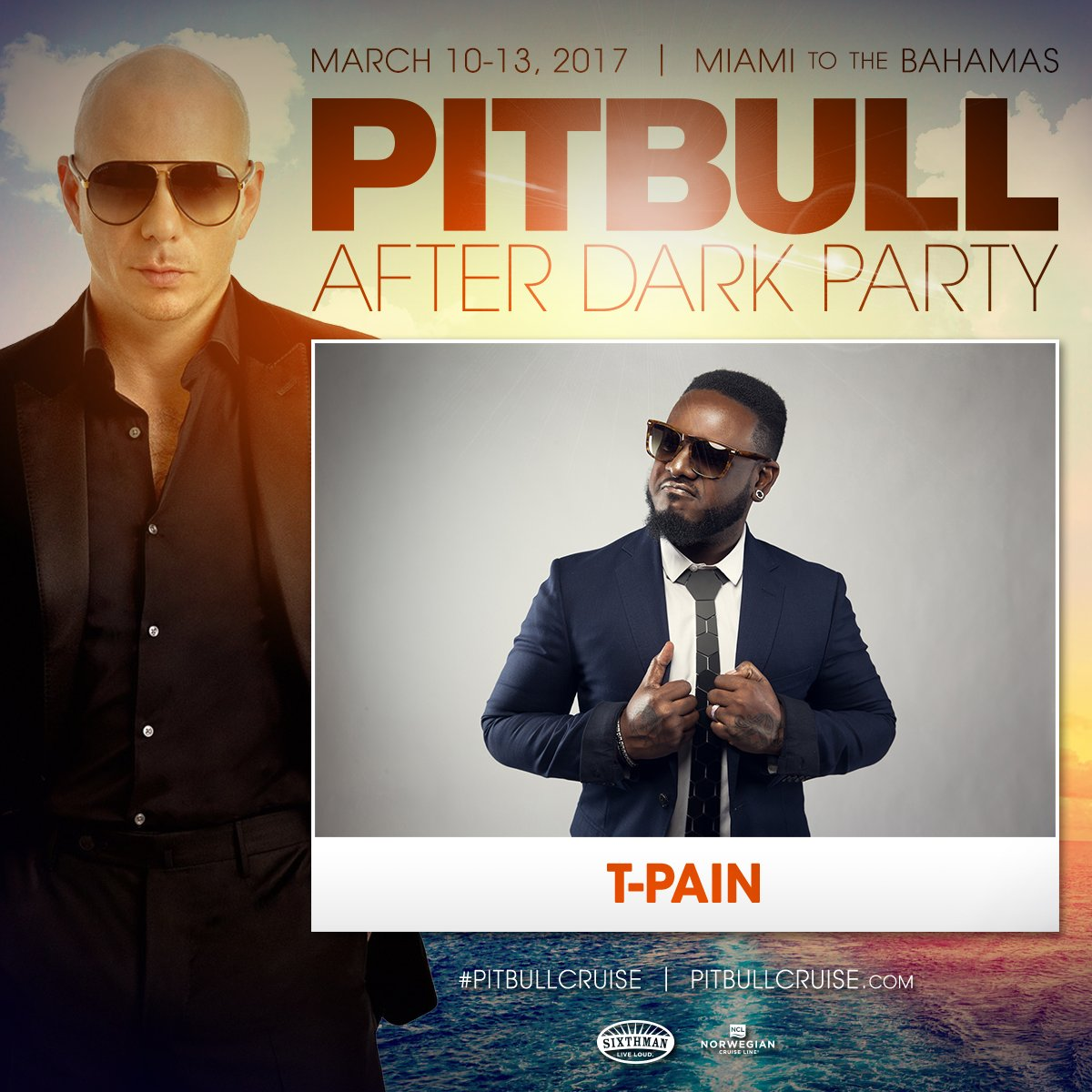 .@tpain is joining the party! #pitbullcruise #dale https://t.co/gC1qYvT7DK https://t.co/17MpKBBYbf