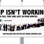 Turnbulls Coalition isnt working. 55,000 full-time jobs lost in 4 months. Investment collapsed.. #auspol #ausvotes https://t.co/by2beLxAhm