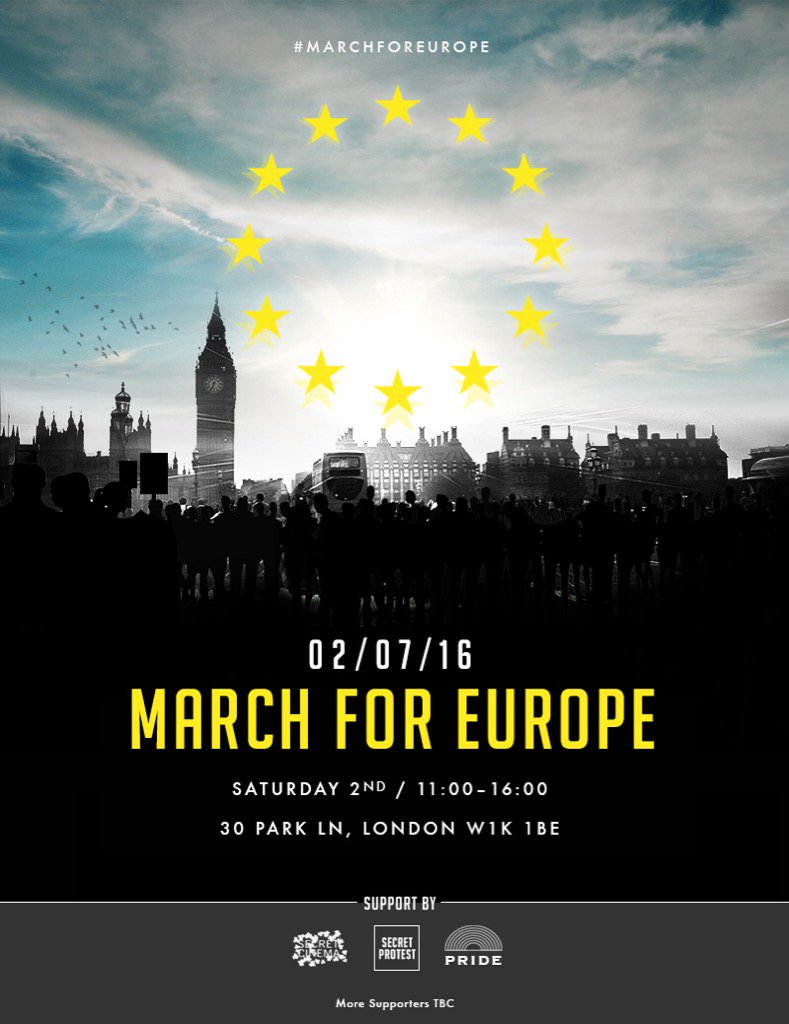 Can't be there today but I support #marchforeurope Px https://t.co/nOtxtzskxh