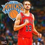 BREAKING: C Joakim Noah agrees to 4-year, $72 million deal with the New York Knicks. (via @ramonashelburne) https://t.co/e7xurjryhx