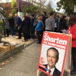 Long lines to vote in Moonee Ponds in Bill Shortens electorate @SkyNewsAust https://t.co/esI2D3Mg1h