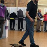 Courtesy of David baker, voting in Hughes today. Looks more like Grayndler behaviour to me https://t.co/UL8ROA8onl