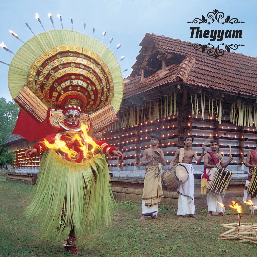 In the courtyard of a village temple, experience the colours of a Theyyam come alive #ദൈവത്തിന്റെസ്വന്തംനാട് https://t.co/eO6yVLFXJk