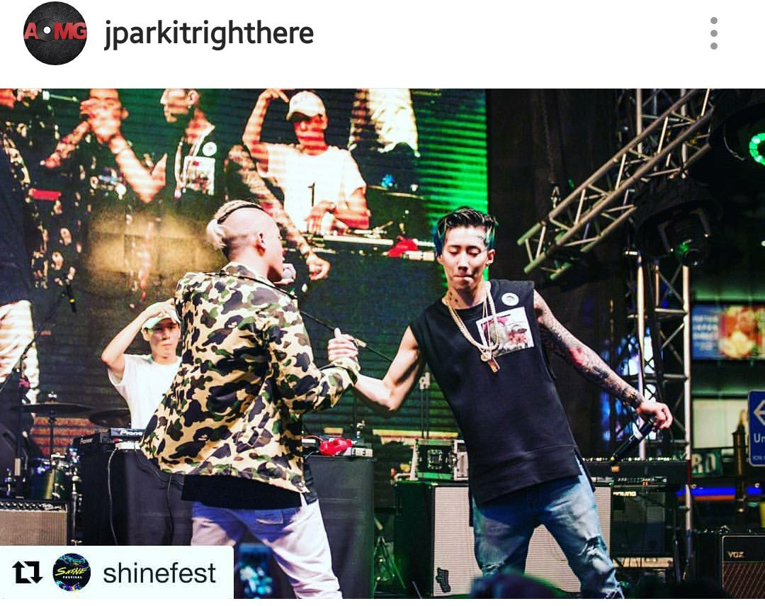 "Shigga Say joined #JayPark during the ""You Know"" stage at #SHINEfestival https://t.co/vl92oONTRH"