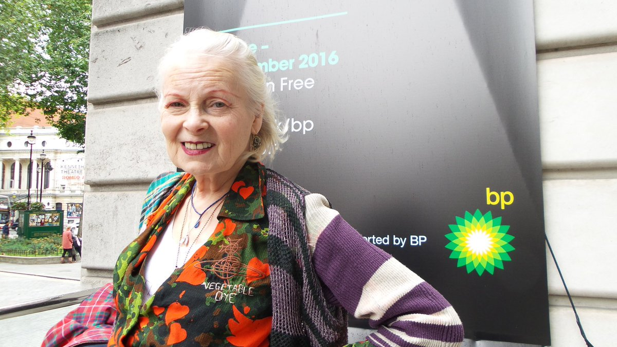 RT @ClimateRevcynth: .@FollowWestwood joined @liberatetate  to challenge @BP_plc's sponsorship of @NPGLondon. #Birthmark https://t.co/95dWK…