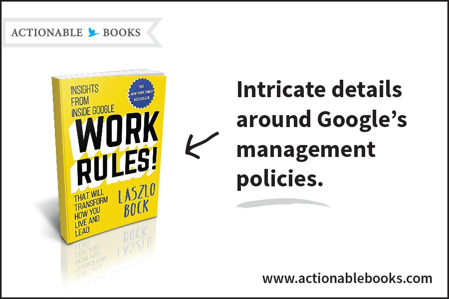"#Google is a ""freedom driven"" company. Find out why it works! #WorkRules @LaszloBock2718 https://t.co/kyZVrJ0XCV https://t.co/WcVhWMnYaN"