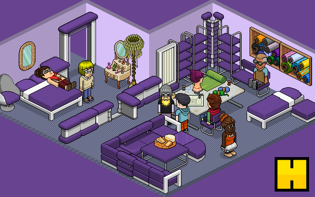 To win the new purple Iced and Pura items (22 furni in total), just RT this tweet! Winner announced Monday