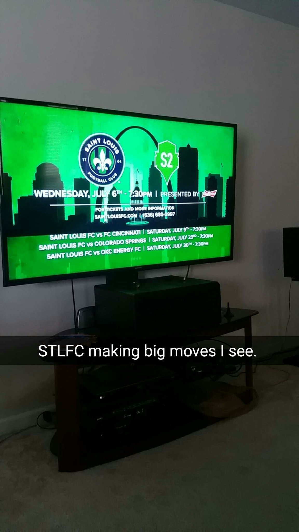 Nice commercial on ESPN2 for @SaintLouisFC https://t.co/h0nroq2T8S