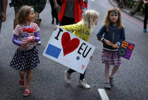 Thousands march through London to protest vote to leave European Union