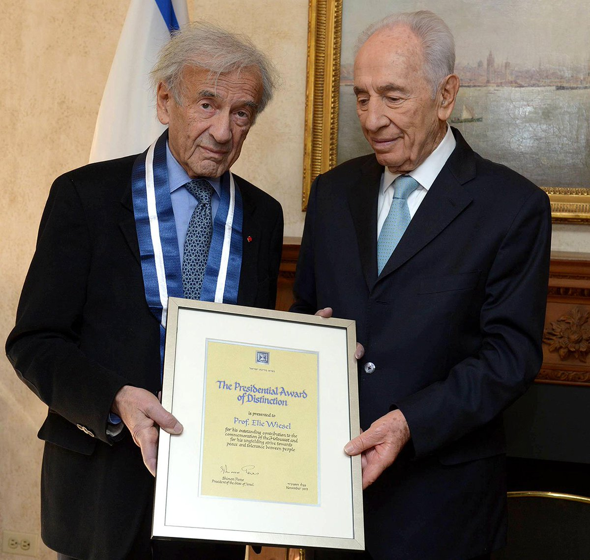 """Even though I don't live in Israel, Israel lives within me"" - Elie Wiesel. May his memory be a blessing. https://t.co/2aUMatZQhg"