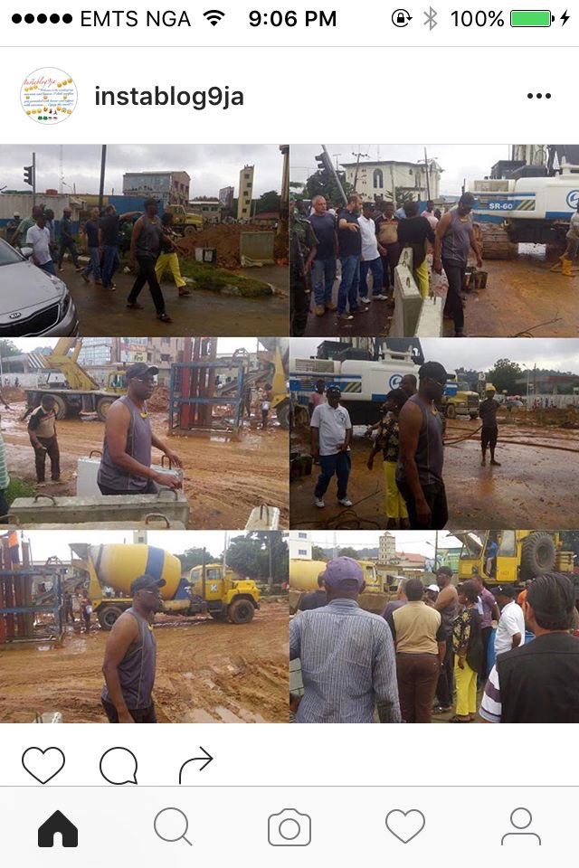 Bruh that's Fayose in a tank top. Loll. On official duty. This guy is mad trips https://t.co/Rg31LK4d86