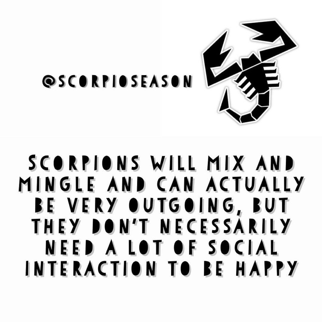 Scorpions will mix and mingle and can actually be very outgoing, but they don't necessarily need a lot of social... https://t.co/Y22S9GyxJ6
