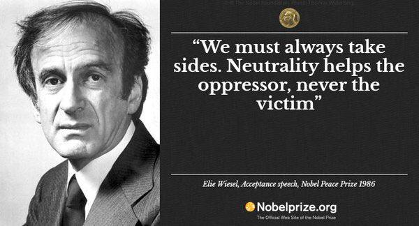 elie wiesel nobel peace prize essay