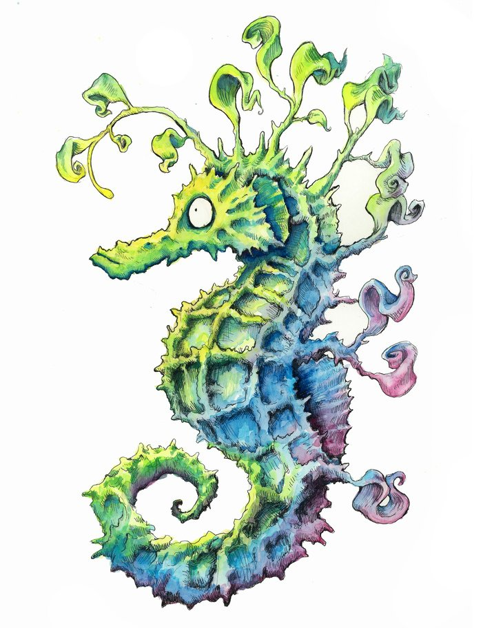 RT @hitRECord: This watercolor seahorse is our new spirit animal - https://t.co/OCURCIwFQV https://t.co/WwMOLPqLtR