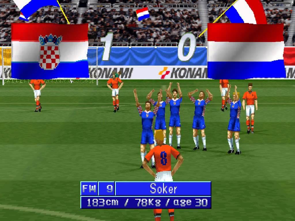 #GrowingUpBritish playing International Superstar Soccer Pro on PSOne. Belter.