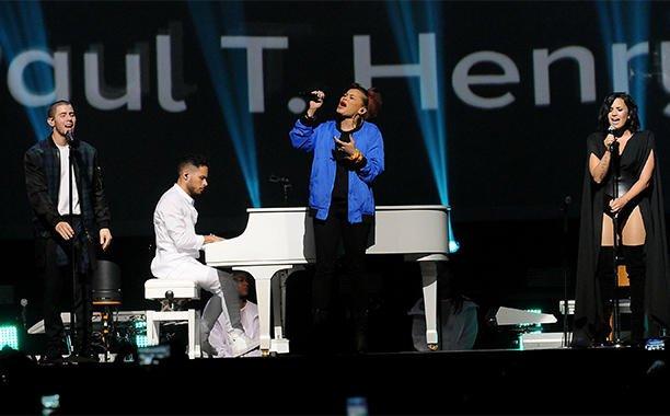 Nick Jonas, Demi Lovato, Andra Day dedicate moving performance to Orlando shooting victims: