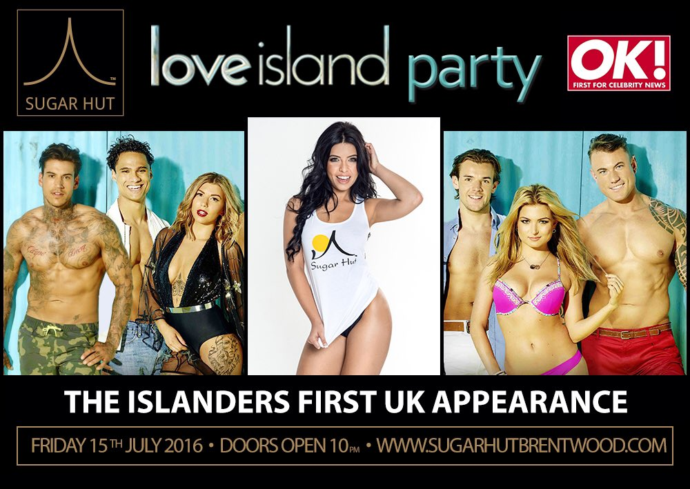 Come and meet Cara & the islanders @sugarhut on FRIDAY 15th JULY @LoveIsland #UKreunionPARTY https://t.co/GhFvTET68p