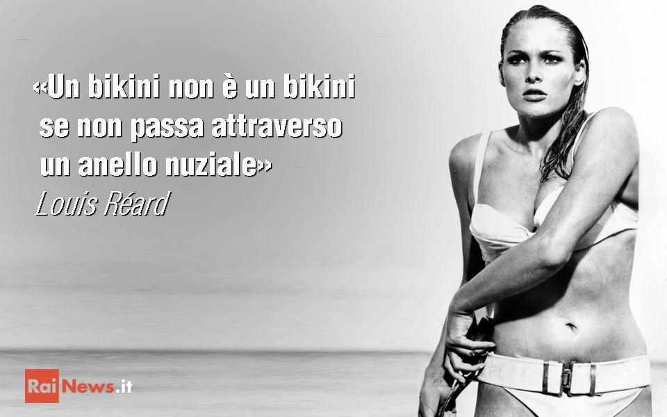 #AccaddeOggi 5 luglio 1946 sarto francese Louis Réard lancia primo #bikini storia Lo indossa Micheline Bernardini https://t.co/ZAJMJJE9k6