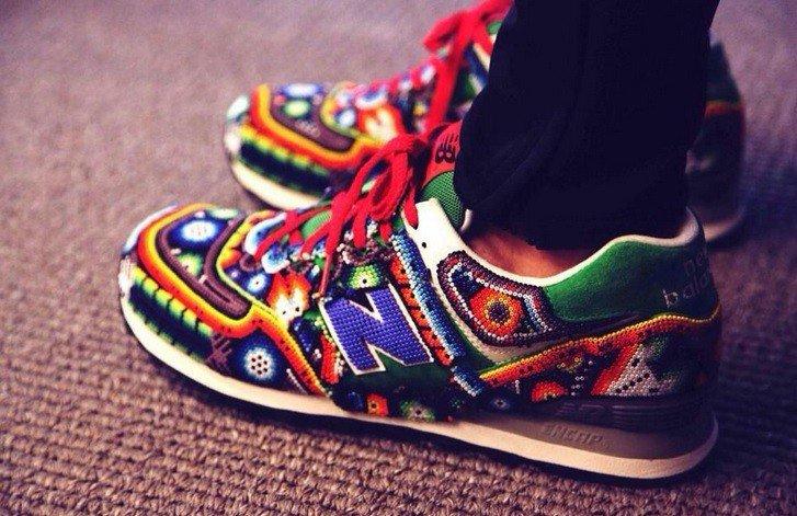 Huichol-Inspired New Balance Sneakers by Mexican Designer Ricardo Seco https://t.co/VPC1f4oaYH https://t.co/z0En98CBfF