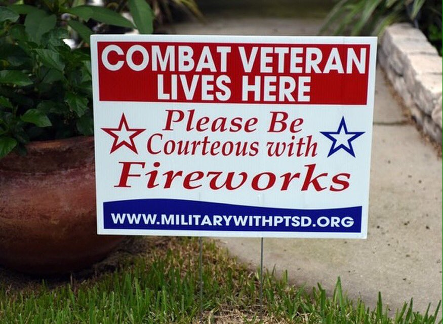 If you live near a Veteran, remember not everyone likes loud booms. #Respect #PTSD