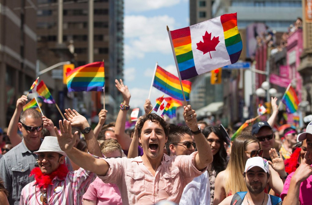 11 yrs ago Canada legalized gay marriage & today our PM made history marching in the Pride parade. Feelin v proud. https://t.co/VlhT6VvGCf