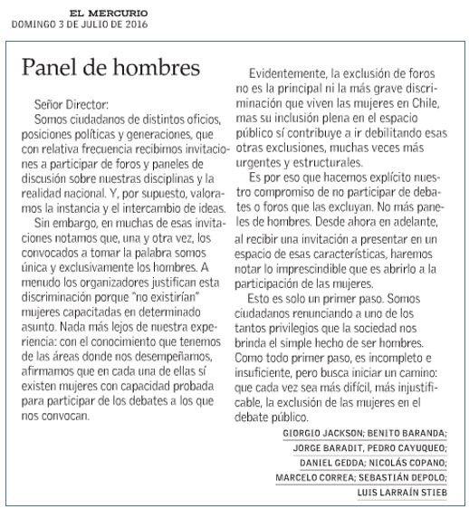 ¡¡Gracias queridos muchachos!! Un gran paso, de enorme valor. Un Chile sin mujeres es un Chile incompleto https://t.co/jQF9N108SK