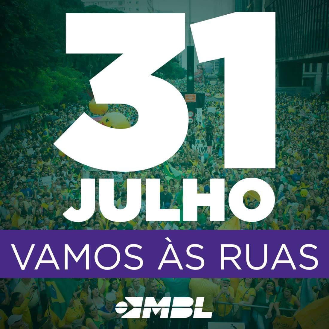 31/07 Vamos lotar novamente a Av.Paulista Agora é Impeachment Já! #ForaDilma https://t.co/qhHAkS5s8s