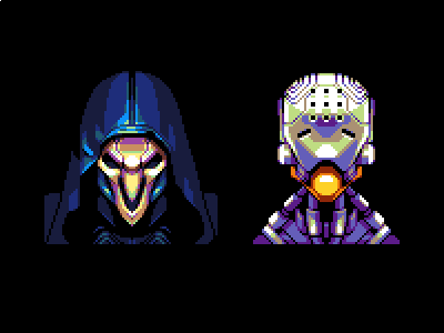these are fun to make. might do some more #pixelart #Overwatch https://t.co/HkBJSDTXCi