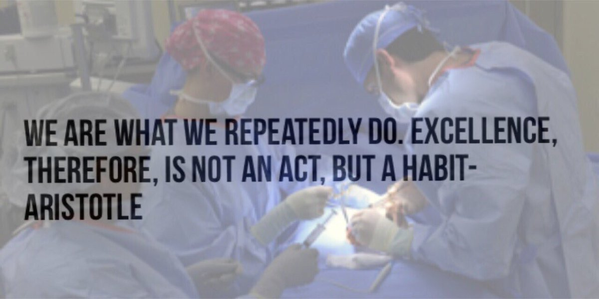 . @drroykim  We are what we repeatedly do.  Excellence, therefore, is not an act, but a habit.  #CosmeticSurgery https://t.co/WmMPuaMAuH