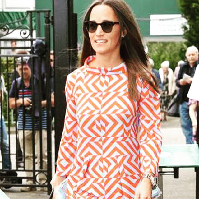 Pippa Middleton looking gorgeous in the Edie dress in an exclusive print at Wimbledon today x https://t.co/J2X7xeXxzC