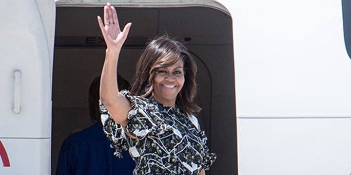 Michelle Obama and daughters leave Spain in style after a successful overseas trip