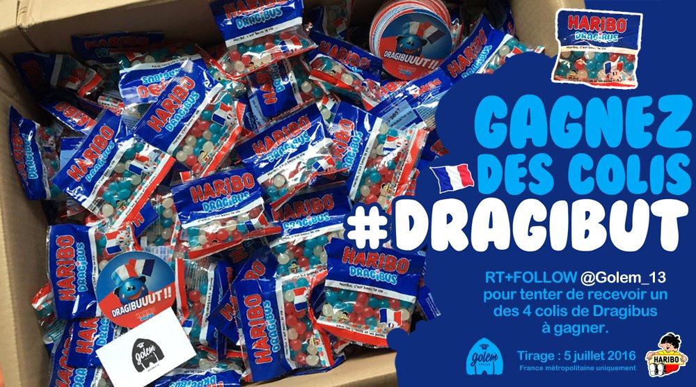 J'ai reçu 300 paquets de #Dragibut pour vous ! RT+Follow @Golem_13 pour tenter de recevoir un des 4 colis à gagner. https://t.co/iZ7TnhqImF