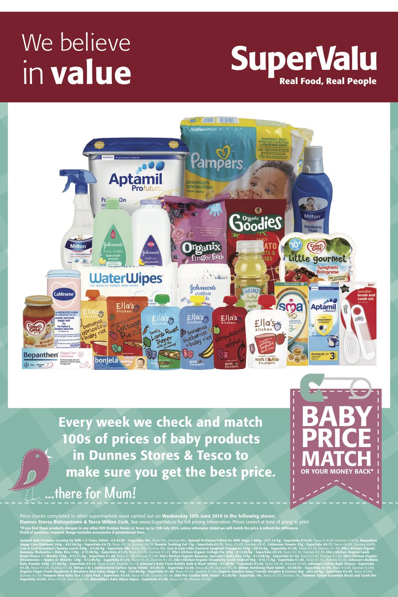 Mum we have done our price match on baby products to make sure the price is right! https://t.co/rIqUTTUhz8
