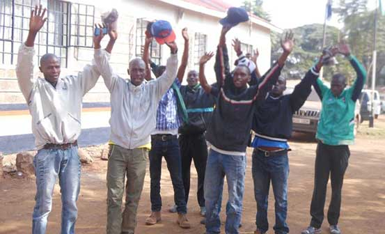Drama as notorious Juja bhang peddlers surrender to police https://t.co/ALqqso4vmm https://t.co/D3UkAQ07jj