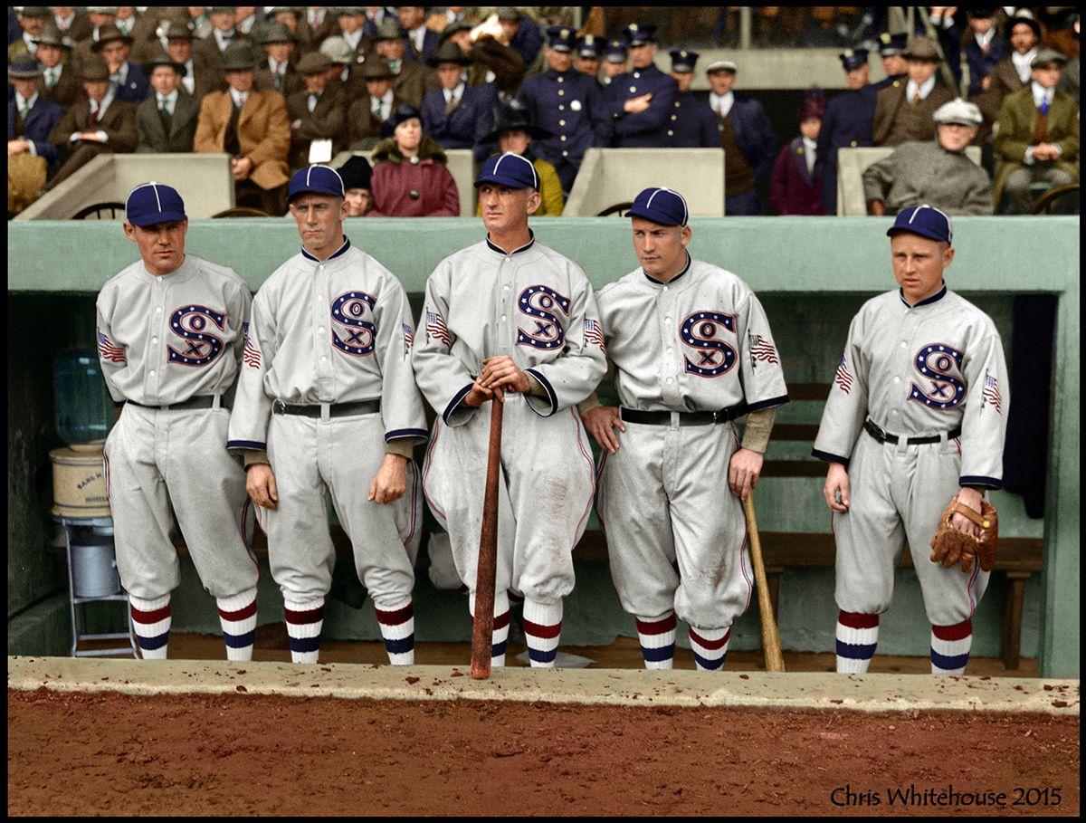 Dear @MLB: The @WhiteSox did it first, did it best, 99 years ago. (photo via reddit) https://t.co/tbEEIM7dpP