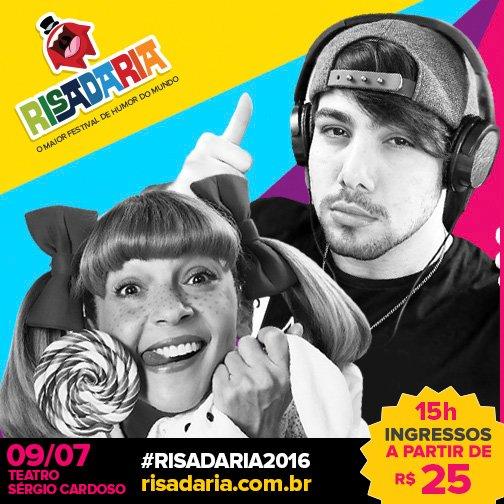 Sábado no #Risadaria2016 Talco Show da Nina com @t3ddyyyyy, acesse https://t.co/LiE6NHEYDE e garanta já o seu lugar! https://t.co/gCAxuy127J