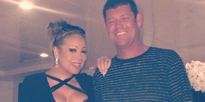 Mariah Carey wears LBD as she cuddles up to her fiancé in cute date night snap