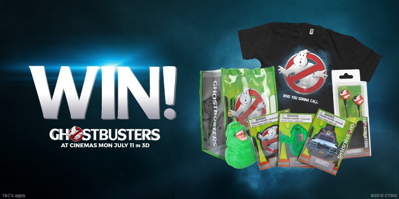 FOLLOW&RT to #WIN 1of3 merch sets to celebrate the release of #Ghostbusters on 11/07. T&Cs: https://t.co/dXuPLFiXo7 https://t.co/iKrQ9Zl9PH