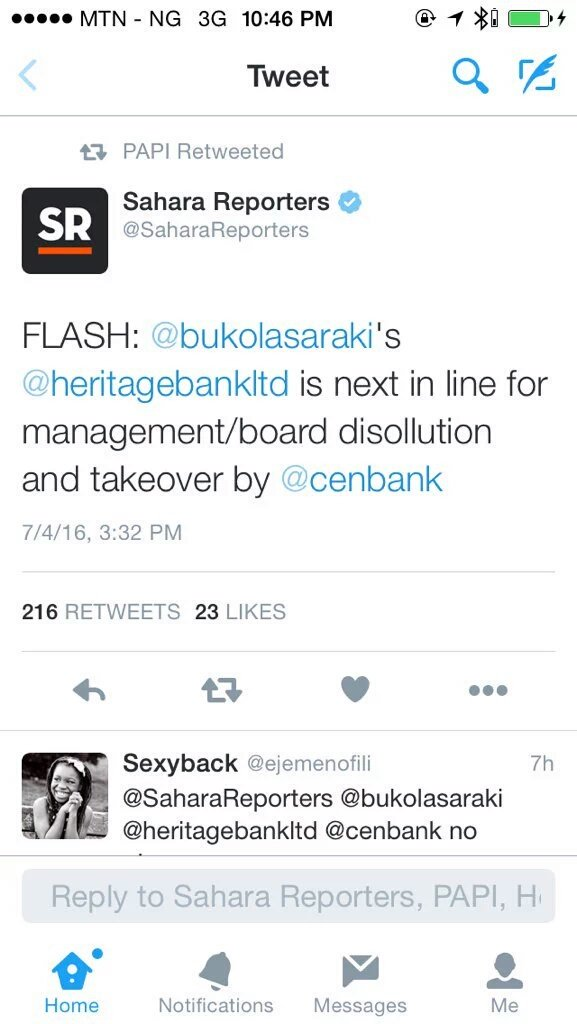 It is just so wrong when a 'credible' news outlet relays rumours to the public. @heritagebankltd don't deserve dat. https://t.co/rsRzz6kOxS
