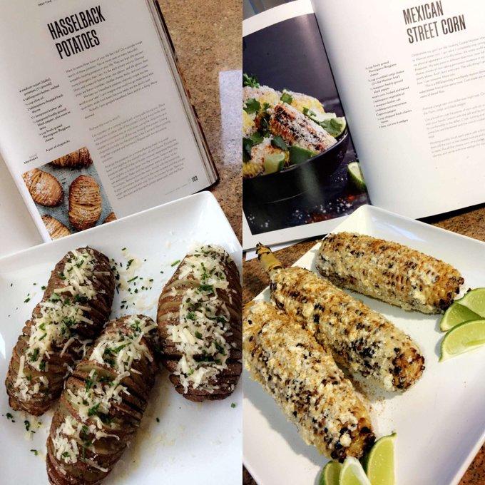 I'm obsessed wit this book?#4thofjuly #foodporn #chrissyteigencookbook #foodie #datcorntho? #lovecookin