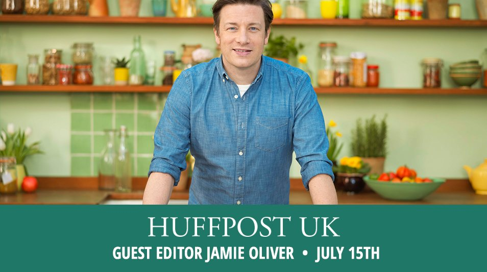 RT @HuffPostUK: We're excited to announce @JamieOliver will be guest editor on 15 July as part of our #ThrivingFamilies month! https://t.co…