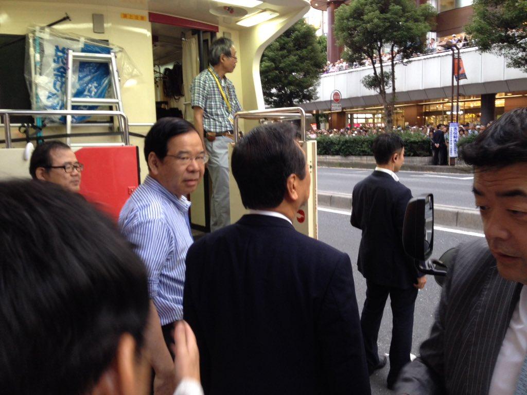 伊藤岳さん、大宮街宣!小沢さん来ました。志位さんと、固い握手してます。 https://t.co/G1DfcBvBb4