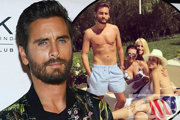 Scott Disick calls himself 'the cougar tamer' as he parties with Kris Jenner and her pals: