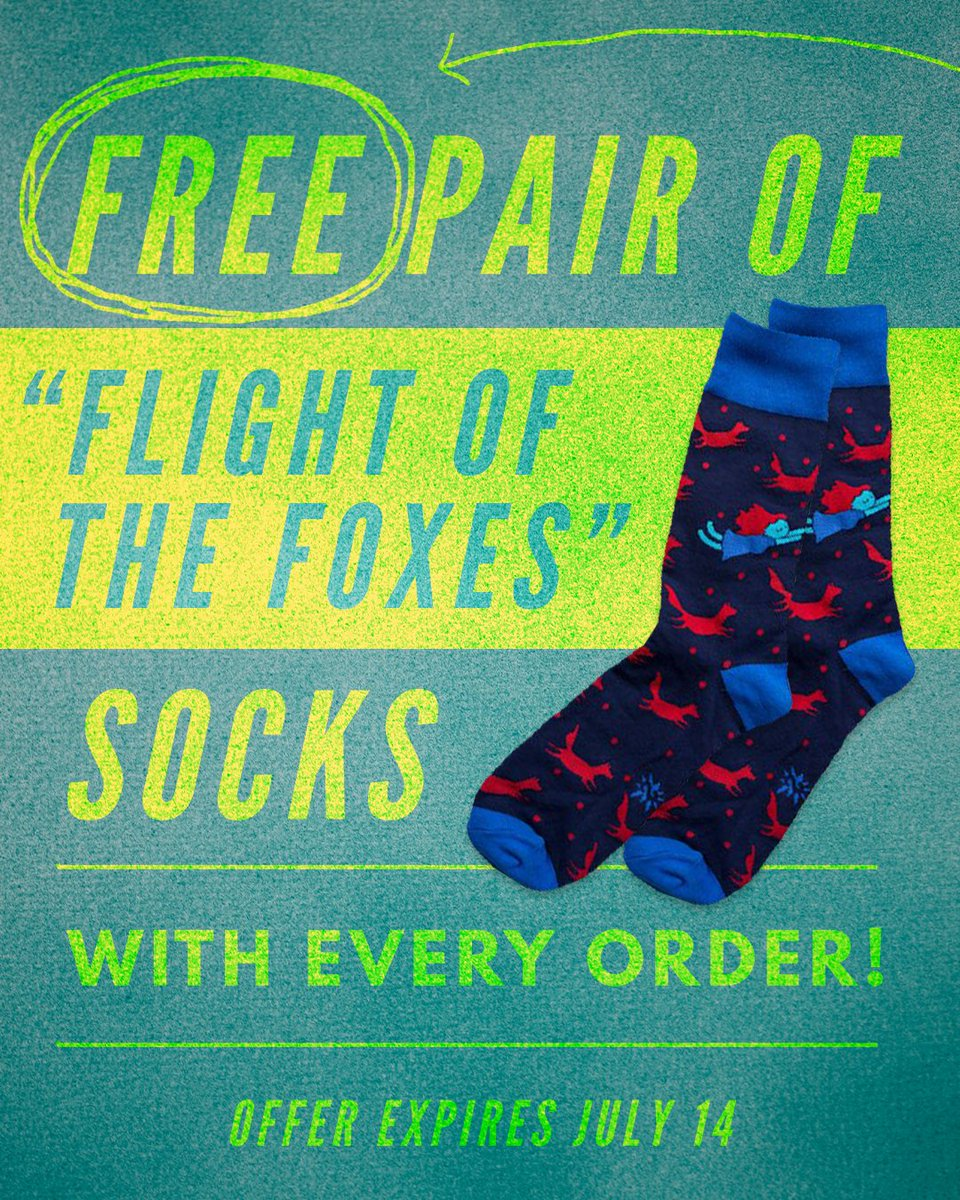 RT @hitRECord: Not only is the entire RECord Store 50% off, you also get a free pair of socks w/ ur order! https://t.co/dUUxNIyMn8 https://…