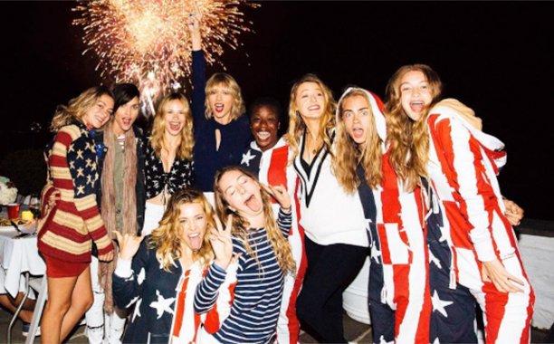 Taylor Swift celebrates Fourth of July with Blake Lively, Uzo Aduba, Gigi Hadid, more: