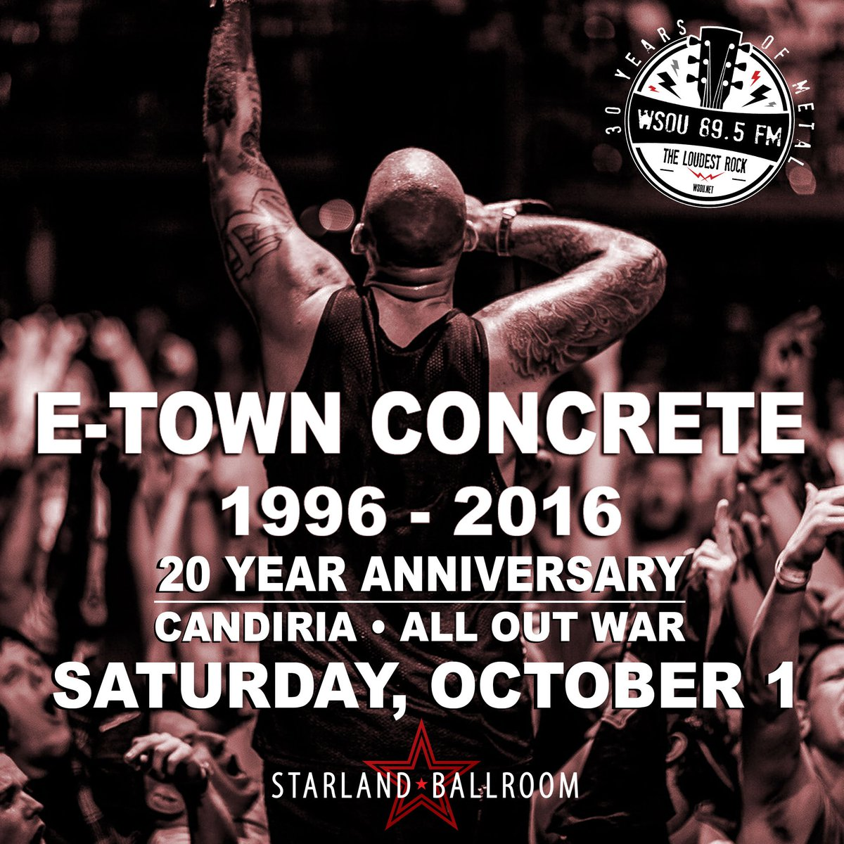 SHOW ALERT! WSOU Presents: @etownconcrete with Candiria at @starlandNJ on Saturday October 1st! Tickets on sale now! https://t.co/PGemuyyCX8