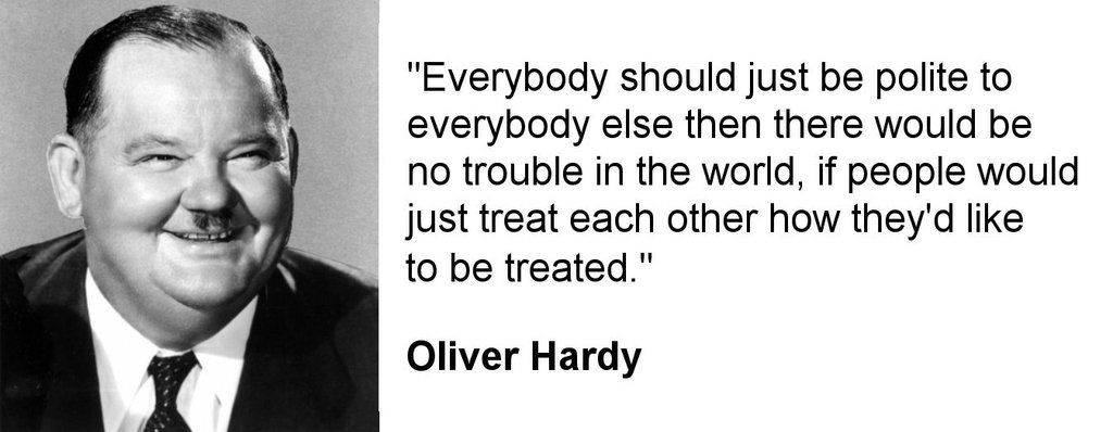 Wise words from Oliver Hardy #LaurelAndHardy https://t.co/PdfEH438r4
