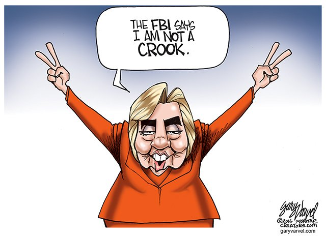 FBI gives Hillary a new campaign slogan. https://t.co/HuIdxgdtA8 @HarrietBaldwin @jjauthor https://t.co/ozZBkBH2SS