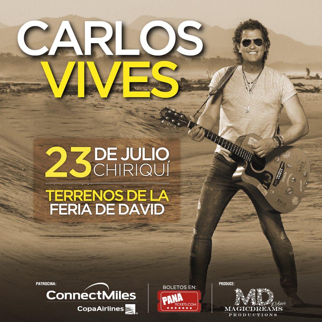Chiriquí 21 Julio @CarlosVives en Concierto y ConnectMiles y @MagicDreamsinc te llevan -->