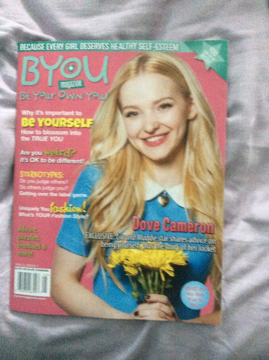 @BYOUmagazine look what I got love it  @DoveCameron https://t.co/LyCcxvxY84